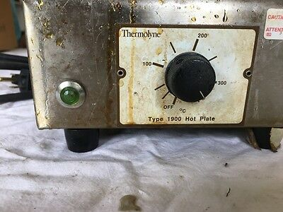 Thermolyne Type 1900 Hot Plate Model Hpa1915b 120v 6.2amp 750