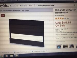 Brand new Queen Headboard with small shelf