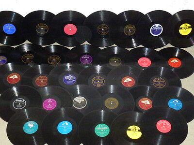 30 englische Schellackplatten für Grammophon Platten ENGLAND SAMMLUNG Schellack+