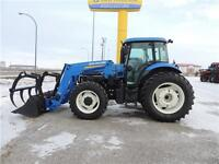 2013 New Holland TS6.140 FWA 120 HP LOADER & GRAPPLE FEL Tractor