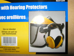 SAFETY SCREEN WITH HEARING PROTECTORS