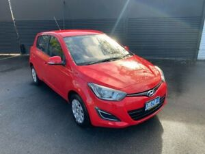 2013 Hyundai i20 PB MY13 Active Red 6 Speed Manual Hatchback Invermay Launceston Area Preview