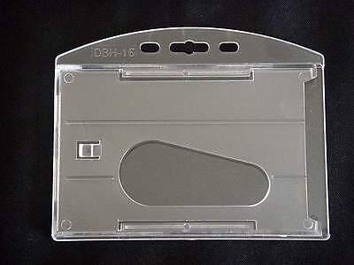 3 Horizontal Hard Plastic Multi Card ID Badge Holder P1