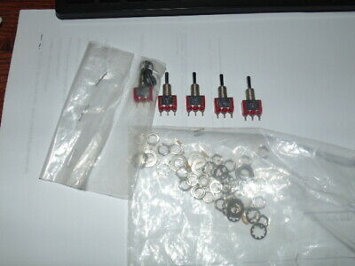 Ck 7107 Mini Toggle Switch Spdt On-off-on Panel Mount 5 Pcs Nos