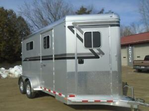 2019 4-Star Trailer 2 Horse Bumper Pull Dress Room 7'6 High