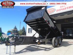 ALL PURPOSE DUMP TRAILER 6 X 12 5 TON WITH COMBO GATE QUALITY London Ontario image 1