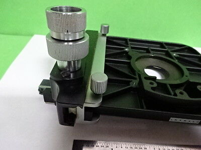 Microscope Parts Leitz Germany Stage Specimen Table Micrometer As Is 4t-b-13