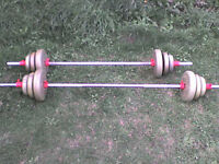 78.8 lb 35.8 kg Gold Dumbbell & Barbell Weights