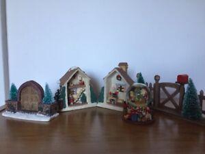 Décoration de Noël –Santa's Toy Shoppe en porcelaine