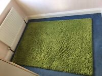Large green rug from Next - 120cm x 170cm