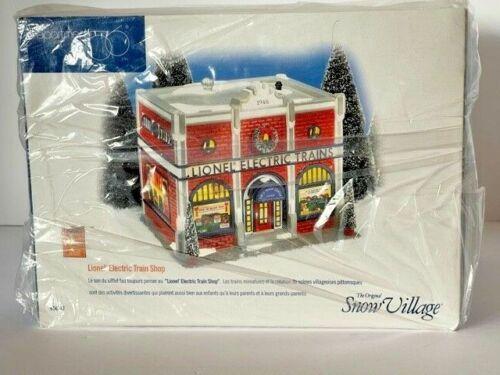 MIB Department 56 Snow Village Lionel Electric Train Shop #54947 Never Opened