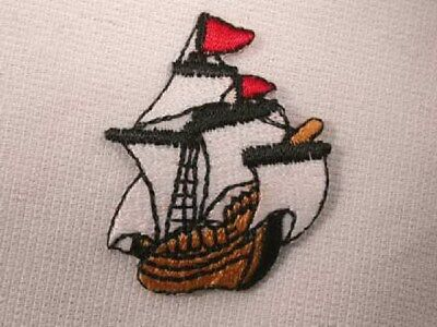 Pirate Ship Embroidered Iron On Patch Applique Pirate Ship Applique