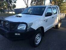2012 TOYOTA HILUX 3.0DIESEL DUAL CAB 4X4 AUTOMATIC WORKMATE Rochedale South Brisbane South East Preview