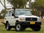 2018 Toyota Landcruiser VDJ76R Workmate White 5 Speed Manual Wagon Enfield Port Adelaide Area Preview