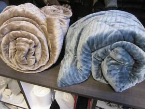 Down Alternative Plush Throws, Berkshire, NEW..Soft Brown Only