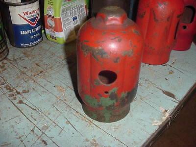 Oxygen Acetylene Tank Cap Steampunk Machine Age Decor Chippy Redgreen Paint