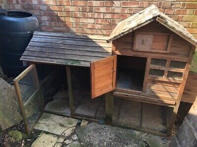 USED LARGE CHICKEN COOP RUN HEN,DUCK, GUINNEY PIG HOUSE RABBIT HUTCH