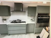 Brand new fitted grey kitchen