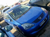 HONDA CIVIC 2005 1.6 BREAKING FOR SPARES TEL 07814971951 HAVE FEW IN STOCK