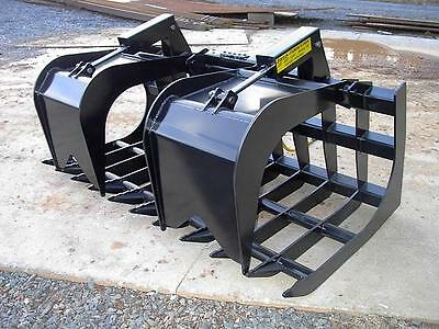 New Loflin Large Monster 847 Grapple Root Rake Skid Steer Loader Bobcat Cat