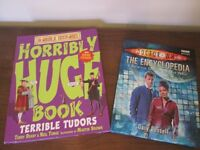 "HORRIBLE HISTORIES ""TERRIBLE TUDORS HUGE BOOK"" and DOCTOR WHO ""THE ENCYCLOPEDIA"