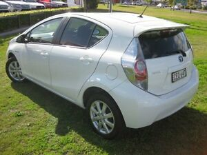 2012 Toyota Prius c NHP10R Hybrid White Continuous Variable Hatchback South Grafton Clarence Valley Preview