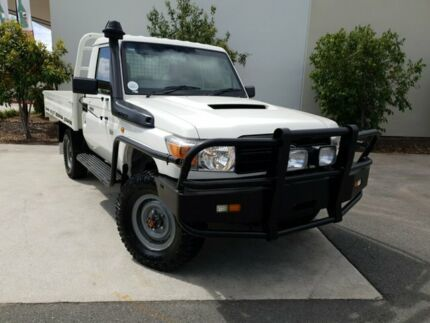 2010 Toyota Landcruiser VDJ79R MY10 Workmate White 5 Speed Manual Cab Chassis Robina Gold Coast South Preview