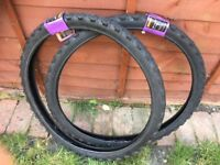"2 x Halfords Adult Mountain Bike Tyres Brand New 26""x 1.95"""