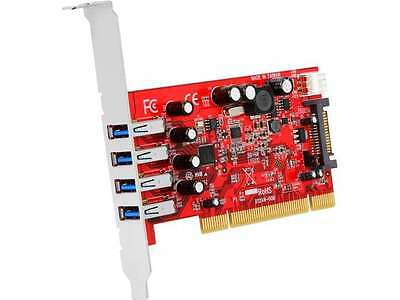 StarTech 4 Port PCI SuperSpeed USB 3.0 Adapter Card with SATA / SP4 Power Model