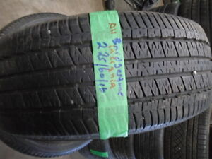 FOUR USED ALL SEASON TIRES 225-60-17 { CONTINENTAL } R,H AUTO