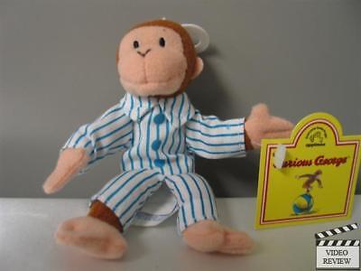 Curious George in PJs plush finger puppet; Applause - Kid In Spongebob Pajamas