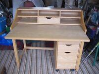 Desk plus filing cabinet