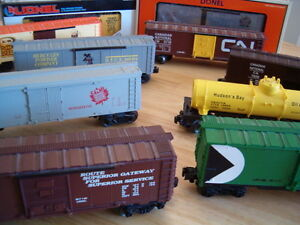Lionel K-Line O gauge box cars tankers more ... price reduced