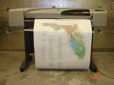Hp Designjet 500 42 Large Format Printer Plotter 1 Year Warranty