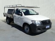 2014 Toyota Hilux TGN16R MY14 Workmate 4x2 White 4 Speed Automatic Cab Chassis Canning Vale Canning Area Preview