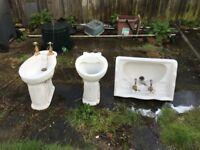 Victorian style - 'Armitage' basin & Pedastal, bidet, WC