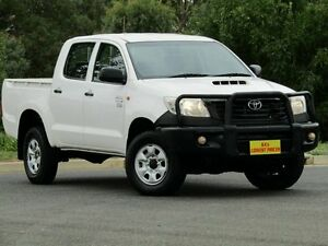 2012 Toyota Hilux KUN26R MY12 Workmate Double Cab White 5 Speed Manual Utility Strathalbyn Alexandrina Area Preview