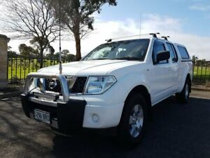 2010 Nissan Navara D40 RX White 5 Speed Automatic Utility Enfield Port Adelaide Area Preview