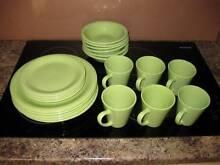 21 pcs green dinner set - online garage sale Nerang Gold Coast West Preview