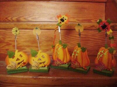 @ HERBST @ Tischkartenhalter Halloween Kürbisse aus Filz