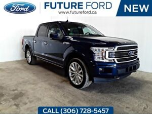 2018 Ford F-150 Limited|BLUE WITH BLUE LEATHER|3.5 ECOBOOST|SPRA