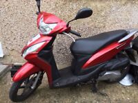 Honda Vision - low mileage/Mot Oct 2018/ fully serviced/comes with helmet
