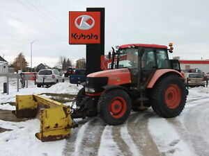 Kubota M108X Tractor with 14' Snow Blade and Nokian Snow Tires