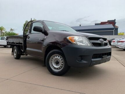 2005 Toyota Hilux GGN15R MY05 SR 4x2 Red 5 Speed Manual Cab Chassis Maryborough Fraser Coast Preview