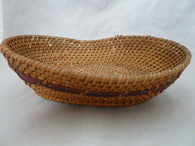 Native American Weave Basket Tray. Nice Design. Approx 2.75