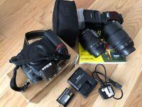 Nikon D7000 16.3 MP DSLR BUNDLE, AS NEW CONDITION, 18-105MM & 55-200MM Lens, Nikon Speedlight SB-910