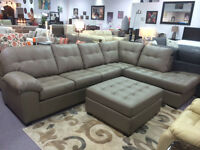 NEW CANADIAN MADE LEATHER SECTIONAL OTTOMAN FREE DELIVERY
