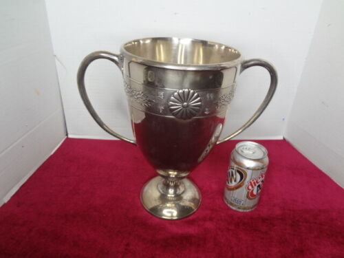 "1936 LARGE JAPANESE ""STERLING SILVER"" EMPERORS CUP HORSE RACING TROPHY...PHOTO"