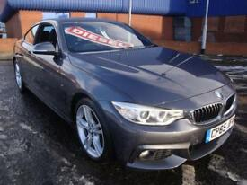 65 BMW 420D M SPORT DIESEL COUPE AUTO *SATNAV*HEATED LEATHER* £30 TAX