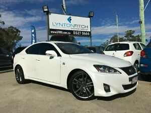 2011 Lexus IS250 GSE20R MY11 F Sport White 6 Speed Semi Auto Sedan Southport Gold Coast City Preview